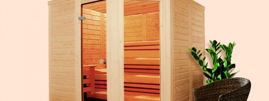 WOLU Massivholz Sauna